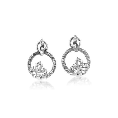 Magerit New Fire 18k White Gold Diamond Earrings