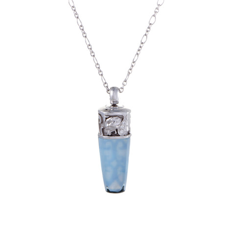 Magerit Babylon Caramelo 18k White Gold Diamond + Topaz Necklace I