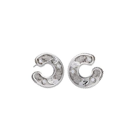 Magerit Babylon Cinta 18k White Gold Diamond Earrings