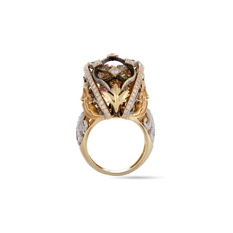 Magerit Versalles Big Fountain 18k Yellow Gold Multi-Stone Ring // Ring Size: 6.75
