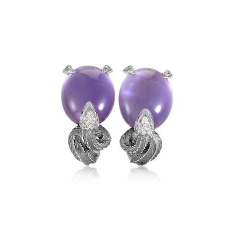 Magerit Mythology 18k White Gold Multi-Stone Earrings