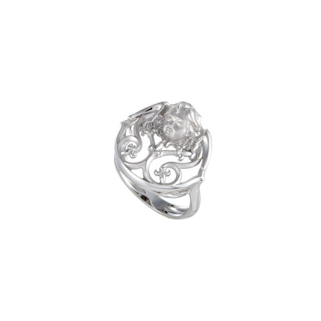 Magerit Versalles Angelito 18k White Gold Ring // Ring Size: 7