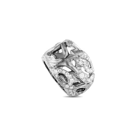 Magerit New Fire Diosa Espera 18k White Gold Diamond Ring // Ring Size: 7