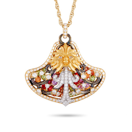 Magerit Fuente Big Versalles 18k Yellow Gold Multi-Stone Necklace