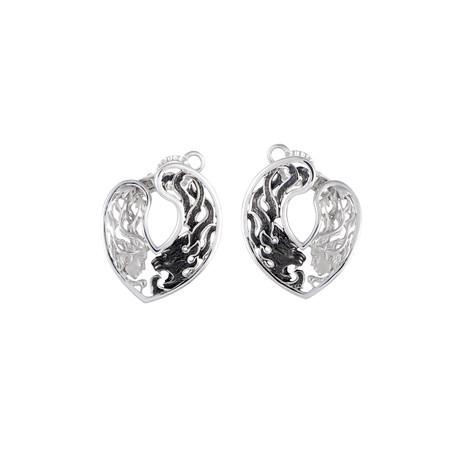 Magerit Instinto Origen 18k White Gold + Black Rhodium Earrings
