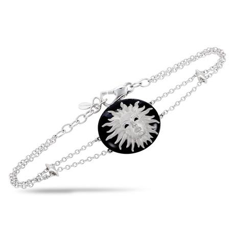 Magerit Versalles Sol 18k White Gold Onyx Bracelet