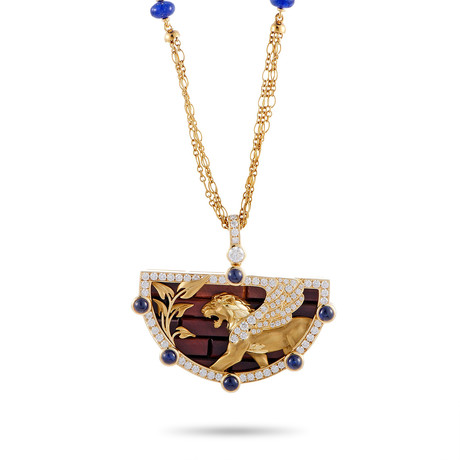 Magerit Babylon Wall 18k Yellow Gold Multi-Stone Necklace