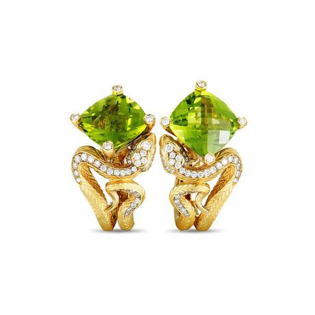 Magerit Snake Rombo 18k Yellow Gold Multi-Stone Earrings