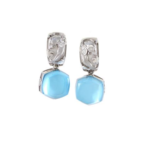 Magerit Babylon Caramelo 18k White Gold Diamond + Topaz Earrings