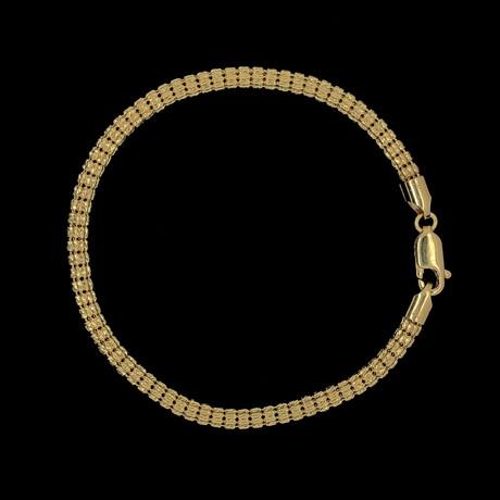 Solid 10K Gold Cylandro Bracelet // 3.5mm
