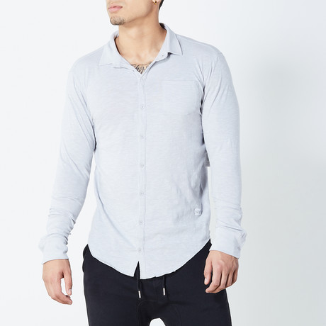 Essential Knit Button Down // Gray (S)