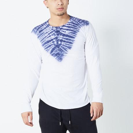 Pyramids Long Sleeve Shirt // White + Blue (S)