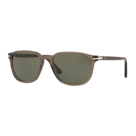 Men's Square Sunglasses // Transparent Gray + Gray