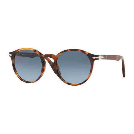 Men's Round Sunglasses // Tortoise Honey + Gray Gradient