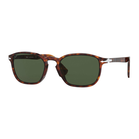 Men's Classic Rectangle Sunglasses // Havana + Green