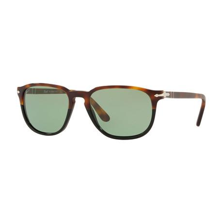 Square Sunglasses // Tortoise Brown Black + Green