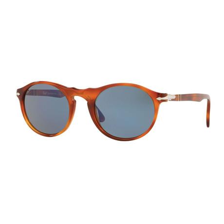 Round Sunglasses // Light Havana + Gray (Size 54-21-145)