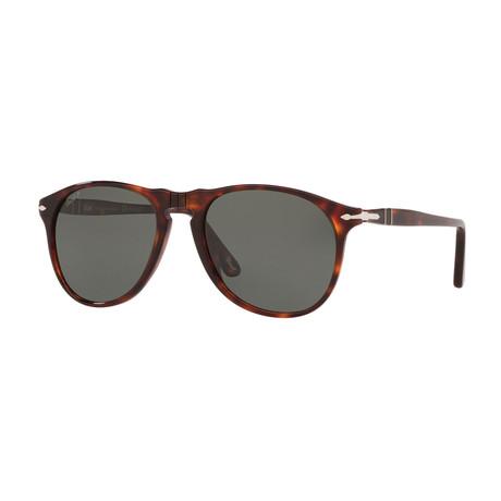Persol // Men's Classic Polarized 649 Sunglasses // Havana + Green Polarized (Size 52-18-145)