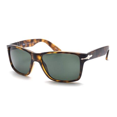 Men's Large Square Sunglasses // Havana + Green