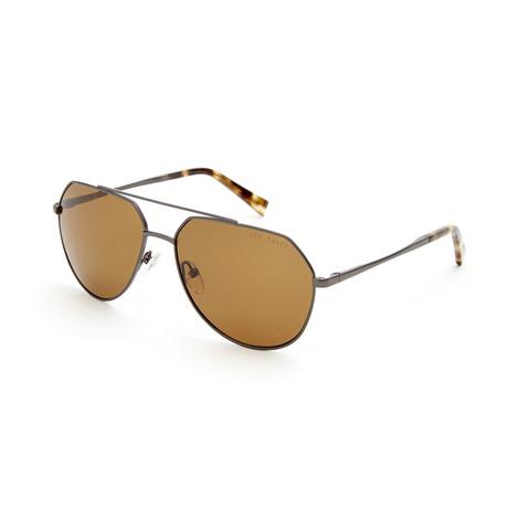 Men's Axel Aviator Polarized Sunglasses // Dark Gunmetal