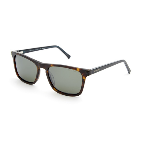 Men's Taylor Rectangle Polarized Sunglasses // Tortoise