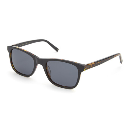 Men's Wils Rectangle Polarized Sunglasses // Black