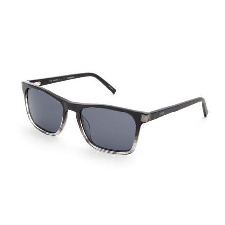 Alexander Rectangle Polarized Sunglasses // Black