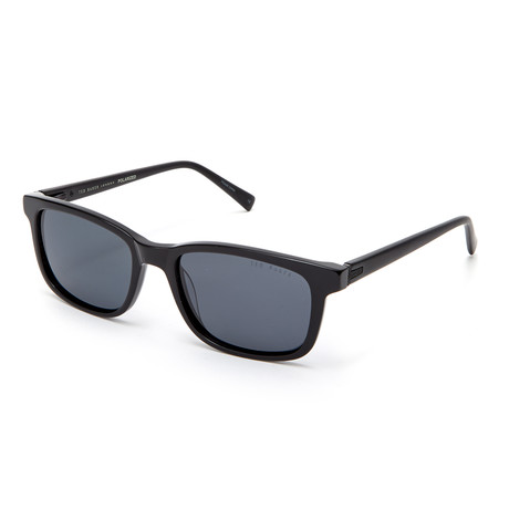 Men's Vincenzo Rectangle Polarized Sunglasses // Black