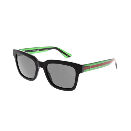 Men's Web Rectangular Sunglasses I // Black