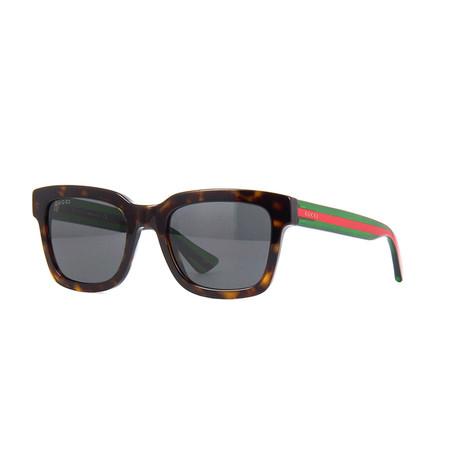 Men's Web Rectangular Sunglasses I // Tortoise