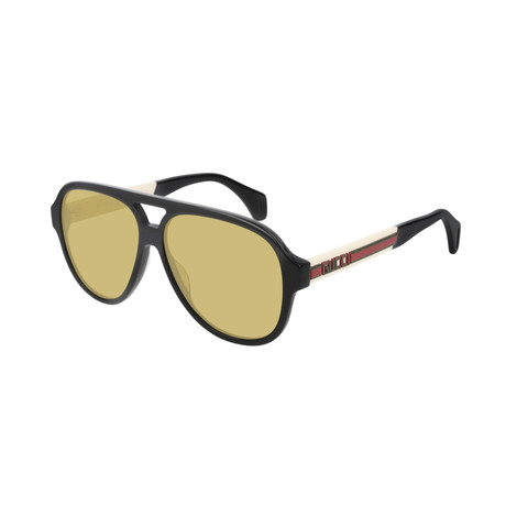 Men's Web Pilot Aviator Sunglasses // Black II