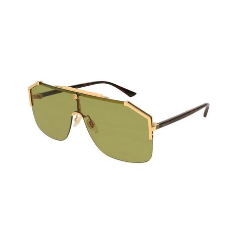 Men's Mask GG Sunglasses // Gold