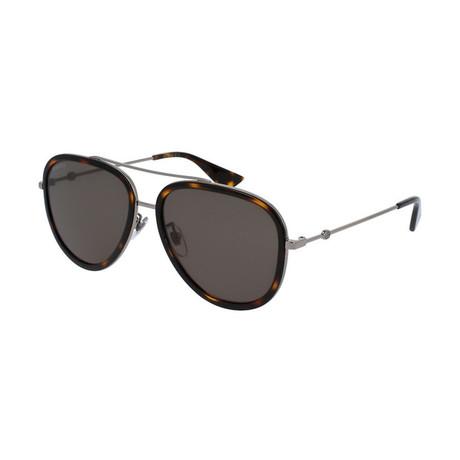 Men's Web Pilot Aviator Sunglasses // Tortoise