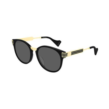 Men's Circular Sunglasses // Gold