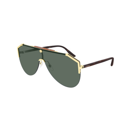 Men's Mask GG Sunglasses // Gold II