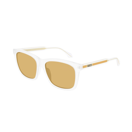Men's Rectangular Sunglasses // White