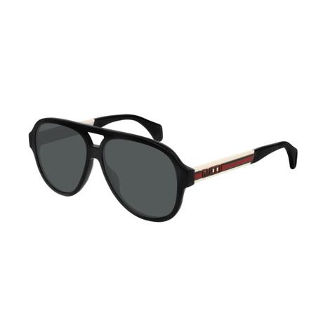 Men's Web Pilot Aviator Sunglasses // Black III