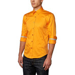 Preston Button-Up Shirt // Orange (L)