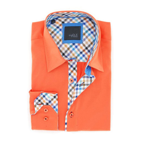 Jackson Button-Up Shirt // Orange (S)