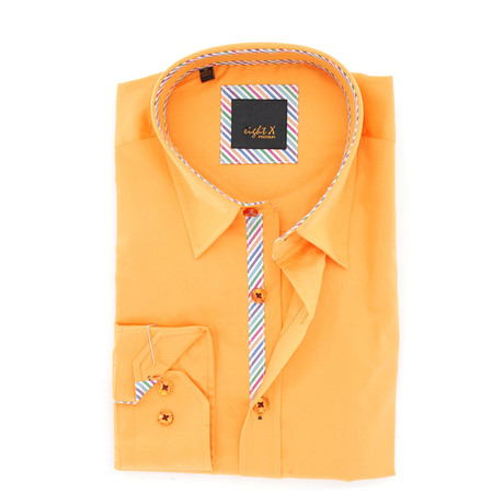 Preston Button-Up Shirt // Orange (S)