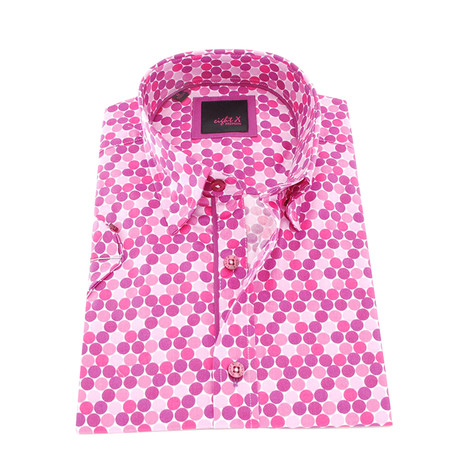 Levin Button-Up Shirt // Fuchsia (S)