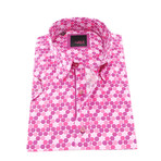 Levin Button-Up Shirt // Fuchsia (XL)