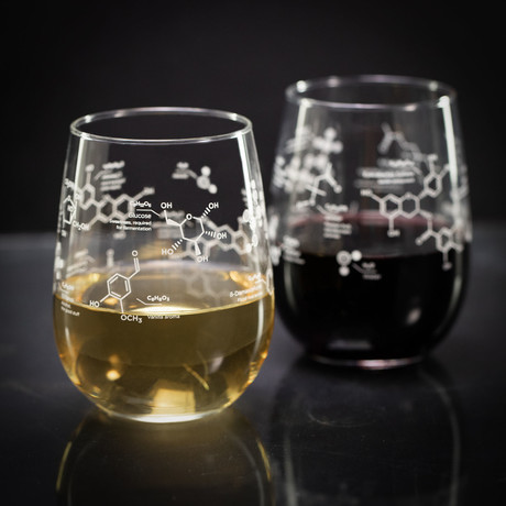 Chemistry Stemless Glasses // Wine