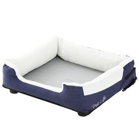 """Pet Life """"Dream Smart"""" Electronic Heating + Cooling Smart Pet Bed // Large (Gray)"""