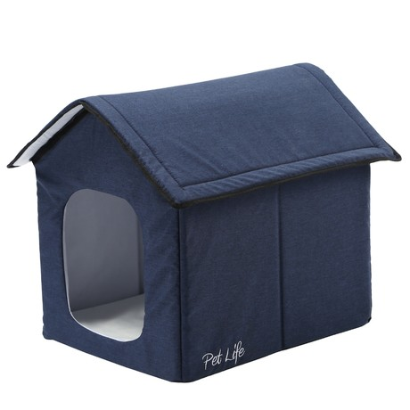 """Pet Life """"Hush Puppy"""" Electronic Heating + Cooling Smart Collapsible Pet House // Large (Gray)"""