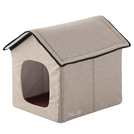 Hush Puppy // Electronic Heating + Cooling Smart Collapsible Pet House // Large (Gray)