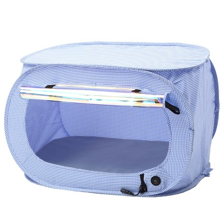 """Pet Life """"Enterlude"""" Electronic Heating Pet Tent // Lightweight and Collapsible (Gray)"""