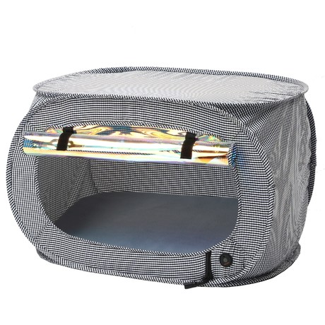 Enterlude // Electronic Heating Pet Tent // Lightweight + Collapsible (Gray)