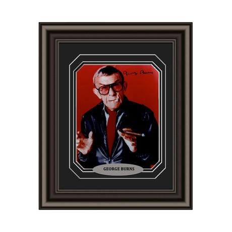 George Burns // Signed Custom Framed Photo