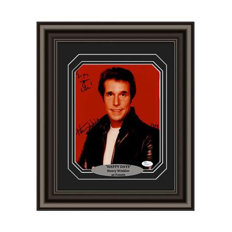"""Henry Winkler // Signed Custom Framed """"Happy Days"""" Photo"""
